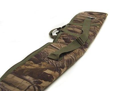 Fodero custodia in tela per fucile foresta con cerniera e bretella