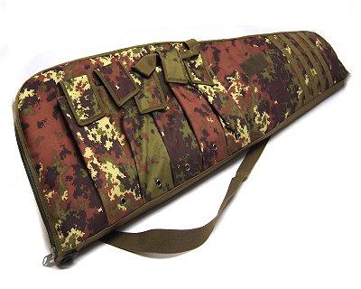 Fodero custodia in nylon carabina mimetico 117 cm con tasche