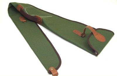 Fodero custodia in tela per fucile con riporti in cuoio