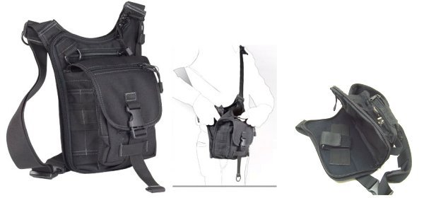 Borsa in cordura Beretta Tactical multitasche tracolla black BS5401890999