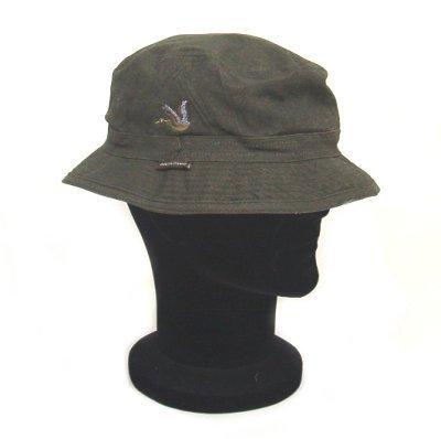 Cappello idrorepellente con anatra ricamata