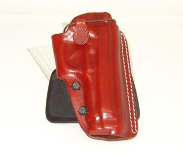 Fondina Vega Holster in cuoio con elastico FA112 per revolver da 2,5 a 4 pollici
