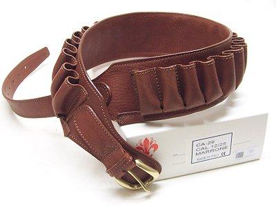 Cartuccera in pelle foderata marrone Delfiero