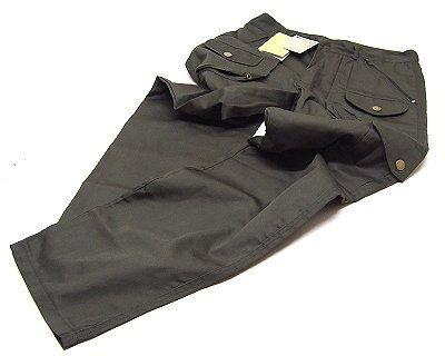 Pantalone cotone verde taglia 52 con otto tasche