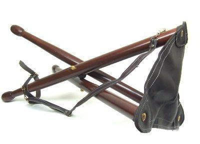 Seggiolino 3 piedi in legno sgabello portatile richiudibile